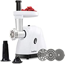 Ivation 1hp Compact-Power Electric Meat Grinder Mincer & Sausage Stuffer, Upgraded..