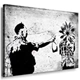 Moderne Bild auf Leinwand Banksy Graffiti -