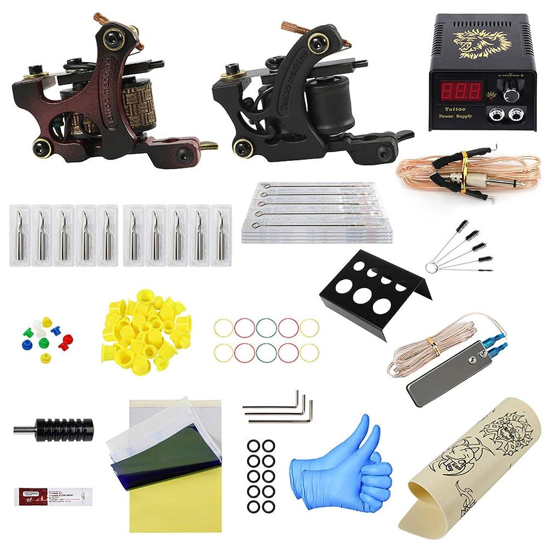 テープアクチュエータゲストタトゥーマシンキット2ピースタトゥーマシンタトゥーキットツールバッグ大構成完成タトゥー機器トラベルケースタトゥー用品タトゥーアーティスト