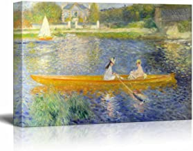 wall26 - The Seine at Asnieres Aka The Skiff by Pierre Auguste Renoir - Canvas Print Wall Art Famous Oil Painting Reproduction - 12