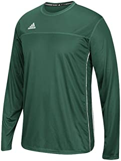adidas Climacool Mens Long Sleeve Utility Soccer Jersey XL Dark Green-White