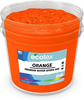 Ecotex Orange Water Based Discharge Ink for Screen Printing - Non Phthalate Formula for Fabric/Textiles - Pint-16 oz.
