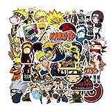 Acekar Naruto Stickers[50pcs] Anime Waterproof for Decal, Laptop Hydro Flask Water Bottle Car Cup Computer Guitar Skateboard Luggage Bike Bumper, Kid Gift (Naruto-50Pcs)