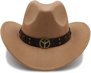 Ruiyue Fashion Winter Cowboy Suede Look Wild West Fancy Dress Ladies Cowgirl Hat Roll-up Hat For Women Men