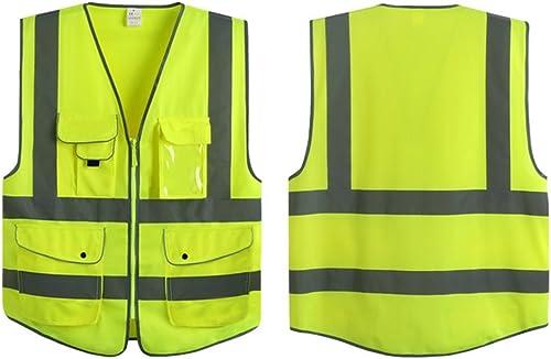 G & F Products Reflective Vest Safety Vest High Visibility with reflective strips multi-pockets ANSI Class 2 standard...