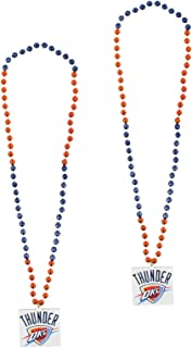 NBA Official National Basketball Association Fan Shop Authentic 2-Pack Mardi-Gras Sport Party Beads (Oklahoma City Thunder)
