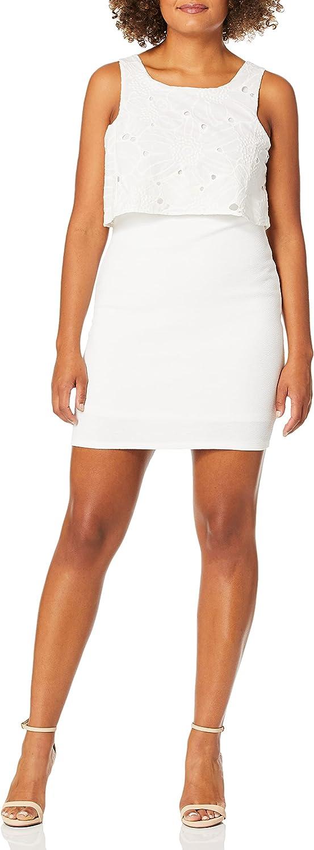 BCBGeneration Women's Twofer Overlay Midi Dress