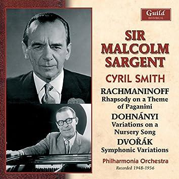 Rachmaninoff: Rhapsody on a Theme of Paganini - Dohnányi - Variations on a Nursery Song - Dvořák - Symphonic Variations