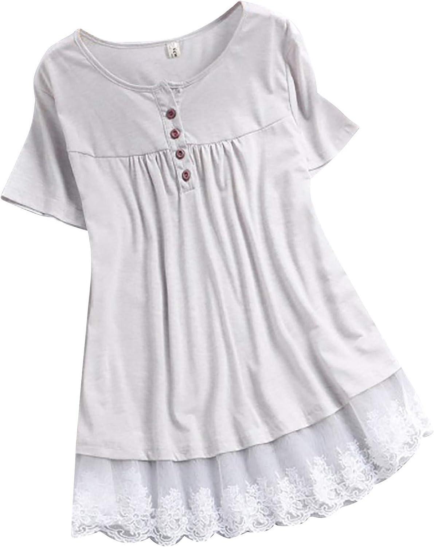 Women's Top,Women's Casual T-Shirt Summer Short Sleeve O-Neck Sweatshirt Tops Blouse