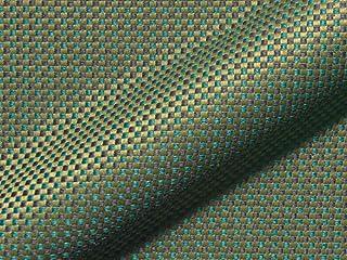 Raumausstatter.de Luna 519 - Tela para tapizar (poliéster), diseño de Cuadros, Color Verde