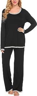 Women's Pajama Long Sleeve Sleepwear Two Piece Pajamas Set Soft Pj Lounge Sets S-XXL
