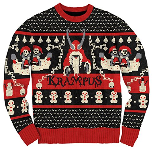 Ripple Junction Krampus Knit Ugly Christmas Sweater (Adult 3X-Large)