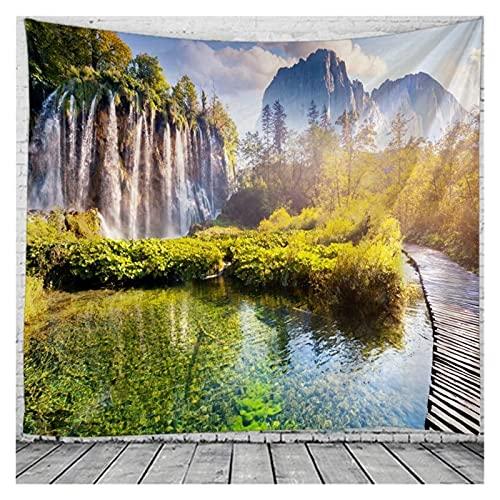 Chenhan Tapiz Espectacular Cascada Tapices de paisajes de Pared para el hogar Deco Sala de Estar Dormitorio de Gran tamaño Decoración de Arte (Color : Purple, tamaño : 150X100CM)
