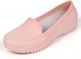 [クルーズライン] 晴雨兼用 シンプル モカシン デッキシューズ フラットシューズ 雨靴 レインシューズ 防水 撥水 B17