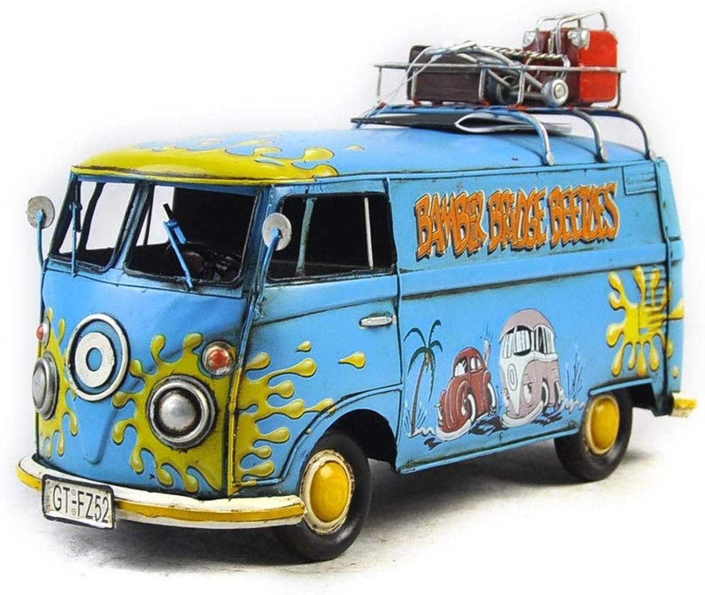Bus Models Crafts Dekorationszeug, Farbteller Auto Fotografie Props, Simple Home Perfect Retro Adornment, Das Bestee Geschenk für Jungen (bluee)