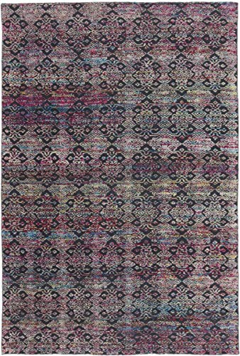 Nain Trading Sari Silk 301x199 Orientteppich Teppich Grau Handgeknüpft Indien