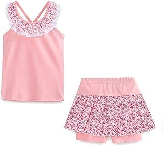 Littlespring Juego de pantalón Corto Little Girls 'Verano Flor Sleveless