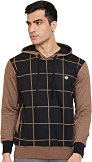 GHPC Checkered Sweatshirt Jacket Full Sleeves Slim Fit Hoodies For Men