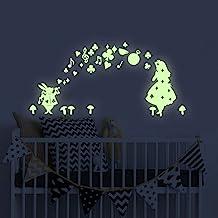 Adesivos de parede para meninas que brilham no escuro, adesivos de parede luminosos em vinil PVC BENBO estrelas para decor...