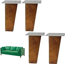 4 stuks Scandinavische stijl eiken meubelpoten, vervangende vierkante kastvoeten, banken en fauteuils benen, voor kast, ba...