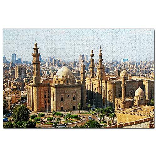 Egypt Mosque of Muhammad Ali Cairo Puzzle 1000 Piezas para Adultos Familia Rompecabezas Recuerdo Turismo Regalo