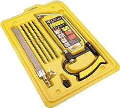 Mini sierra de mano, sierra de arco de alta tensión de bastidor sólido, caja de herramientas del juego de múltiples cuchillas, funciona como cofia de sierra sierra de arco Jab Rip Poda sierras de mano