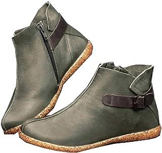 2019 New SANFASHION Bottes Courtes Femme,Casual à la Mode Boots Vintage Bottines Femmes Zippe,Sport Chaussures Bottes Bask...
