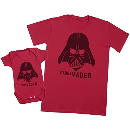 d2e5cad167f Baby Vader   Daddy Vader - Matching Father Baby Gift Set - Mens T Shirt