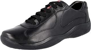 Prada Men's 4E2043 O3Y F0002 Leather Sneaker