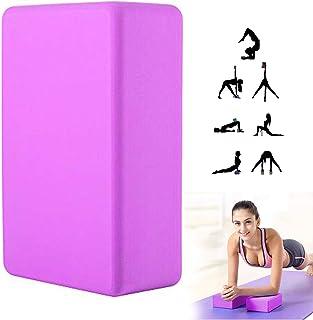 "KISSBELLY Yoga Brick High Density Non-Slip EVA Foam Block Yoga Meditation Pilates Stretching Balance Alignment(9""x 6""x 3"")"