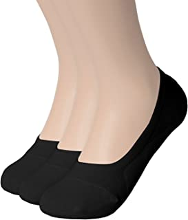 Womens 1 to 10 Pack Casual No-show Socks Flat Boat Line with Non-Slip Grip