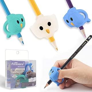 鉛筆持ち方矯正 Firesara ペングリップ 2019新発売 フクロウ形状 はじめてセット 子供勉強セット 鉛筆グリップ 握り方矯正 左右手兼用(3個)