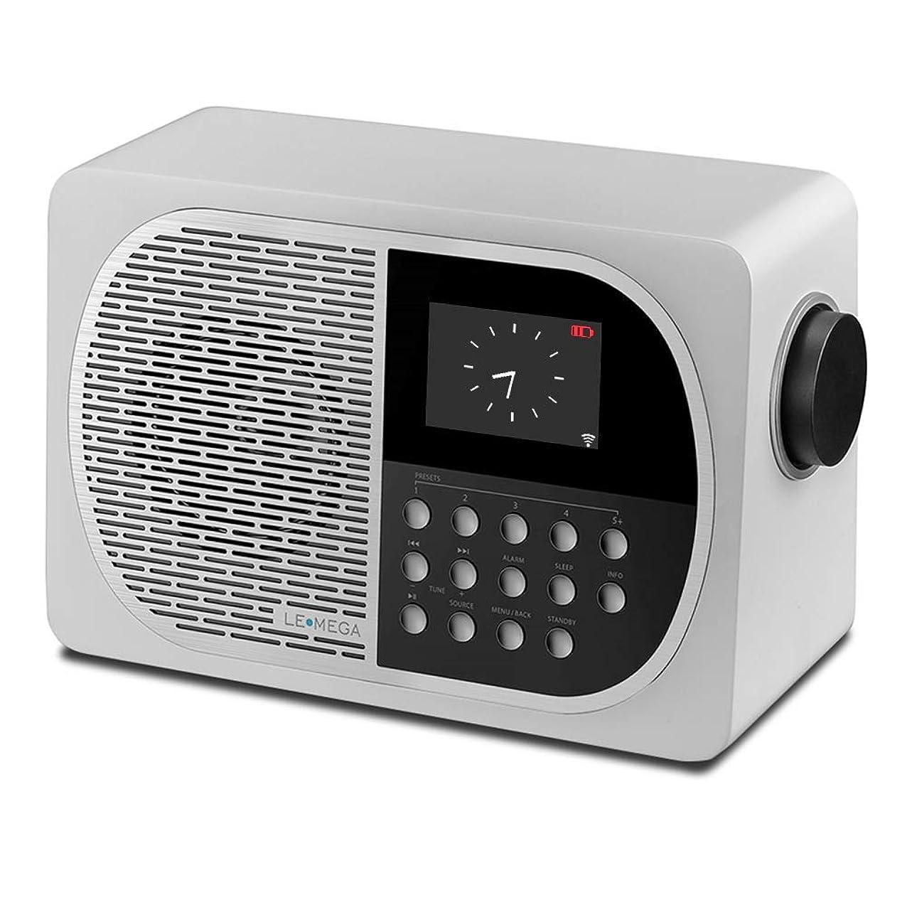 LEMEGA Portable Digital WiFi Wireless Internet Radio with Bluetooth Receiver & Ethernet Port,Spotify Connect, FM HD Radio,Smart Speakers, 2.8