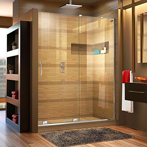 DreamLine Mirage-X 56-60 in. W x 72 in. H Frameless Sliding Shower Door in Chrome; Right Wall Installation, SHDR-1960723R-01