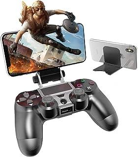 PS4携帯電話ホルダー iphone コントローラー PS4コントローラー用スマホホルダー 荒野行動 PS4 無線ゲームコントローラーブラケットPS4用コントローラクリップ PS4コントローラー専用スマホ固定ホルダー PS4スマホマウントホルダー ワイヤレス IOS Android対応 プレイスタンドPS4電話クリップ PS4コントローラー用スマホホルダー PS4ハンドルクリップ PS4電話クリップ
