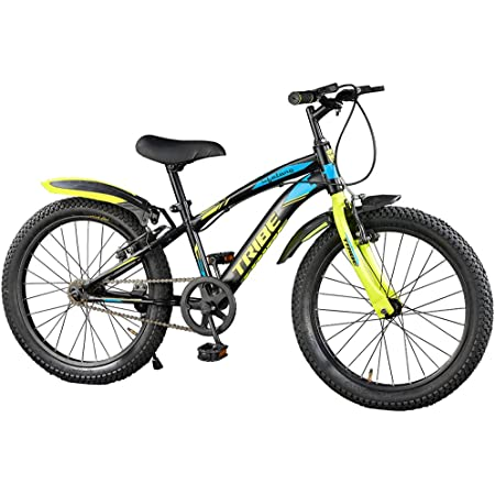 """Lifelong LLBC2001 Tribe 20T Cycle (Yellow and Black) I Ideal for: Kids (5-8 Years) I Frame Size: 12""""   Ideal Height : 3 ft 10 inch+ I Unisex Cycle  85% Assembled (Easy self-Assembly)"""