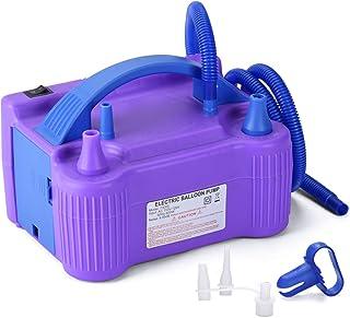 MESHA Electric Balloon Pump Air Pump Inflator Portable Dual Nozzle Blue Air Balloon Pump Filler Inflator/Blower for for Balloon Arch,Balloon Column Stand 110V 600W Air Pump (Purple)