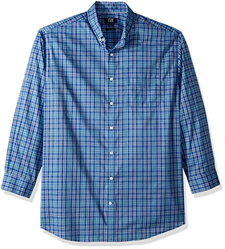 Cutter & Buck Herren Medium and Check Easy Care Collared Shirts Button Down Hemd, Bolt Charlie Plaid, 2X