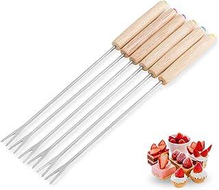 MXECO Tenedor de Chocolate de Acero Inoxidable Tenedores de Olla Caliente Queso Fruta Postre Tenedor Fondue Fusión Pincho Herramientas de Cocina