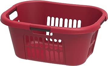 Cosmoplast Plastic 40 Liter Oval Laundery Basket, Red
