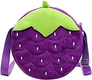 Female Small Fresh Plush Handbag Cartoon Pattern Package Embroidery Diagonal Bag