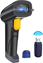 Aizerilon Barcode Scanner Wireless 1D | Portable Scan Gun with USB Charging Cable| Handheld Laser Inventory Scanner for POS/PC/Laptops/Computer/Library