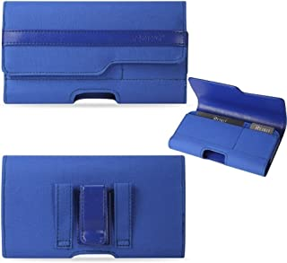 Blue Magnetic Secret Pocket Credit Card Phone Case fits verykool SL6010 Cyprus LTE Even with a Cover on it.