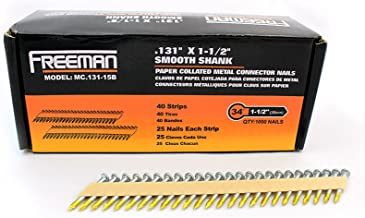Freeman MC.131-15B 35-Degree Metal Connector Paper Collated Framing Nails 1-1/2