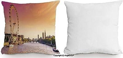 Amazon Com Angeldou Square Cotton Linen Pillow Cushion