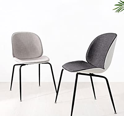 XiYunHan Beetle chair Casual Simple Creative chair Cafe Hotel chair Light luxury chair Concise Black and white (Color : A)