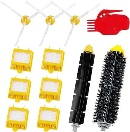 Zacro Cepillos Reposición de Accesorios para Aspiradoras iRobot Roomba Serie 700 760 770 780 y 790--un Conjunto de 12