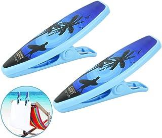 plastique Deluxe Edition avec extra forte M/étal plumes dubens Lot de 4/grande Clips Pinces multi-usages Pince Serviette de plage g/éant Surf longue de camping Parure de bain Accessoires pour poussette