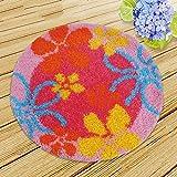 Bunte DIY Teppich Teppich Blumen Knüpfteppich Kits Häkeln Tapestry Yarn Kissen Set Für Stickerei Unfertig, 20.5X20.5 Inch