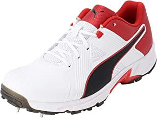 Puma Men's Spike 19.1 White Black-hi Cricket Shoes
